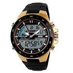 Relógio Skmei Anadigi 1016 Dourado