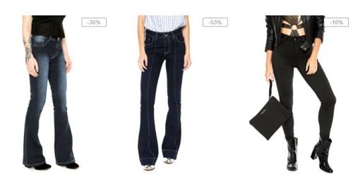 Calças femininas de marcas famosas em oferta na Dafiti