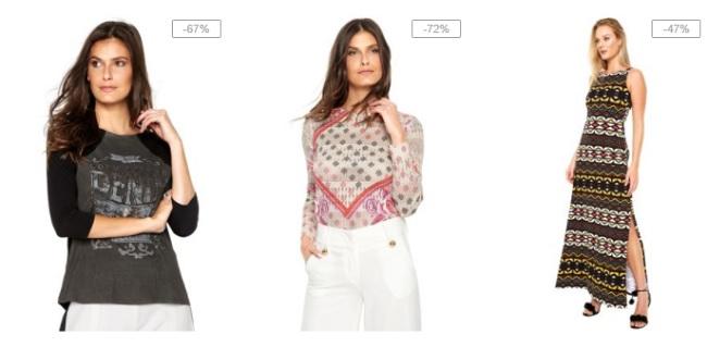 Vestidos femininos de marcas famosas em oferta na Dafiti