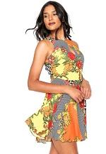 Vestido Lez a Lez Curto Bali Laranja/Amarelo