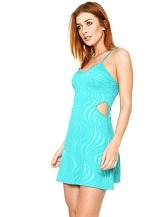 Vestido Zatana Recortes Verde