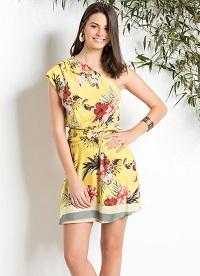 Vestido Estampa Floral Amarelo Farm