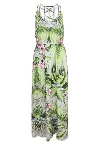Vestido Colcci Loose Verde feminino estampado tropical
