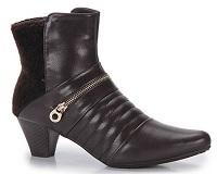 Ankle Boots Feminina Mooncity - Marrom