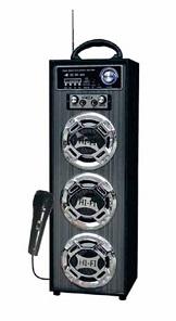 Caixa de som amplificada com Bluetooth USB/SD/FM 15 W RMS com Microfone