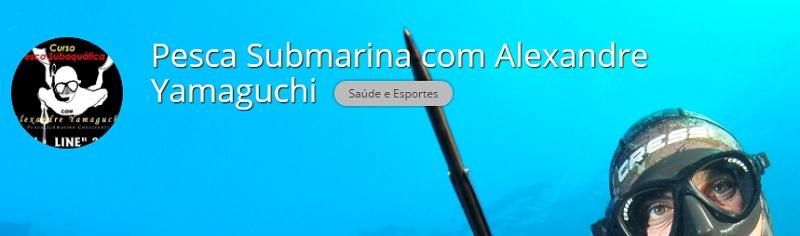 Curso pela internet de pesca subaquatica