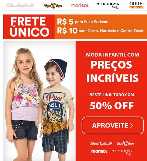 Promoção Moda infantil Fit Fashion Posthaus com preços incríveis e frete único