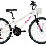Promoção Bicicleta Aro 24 modelo Ceci branca personalizada Caloi